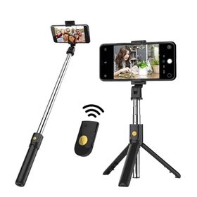 Gậy Chụp Ảnh Tự Sướng Bluetooth Không Dây, kiêm giá đỡ để bàn livestream Có Thể Kéo Dài Đến 100cm Và Điều Khiển Từ Xa giá sỉ