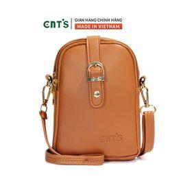 Túi đeo chéo đựng điện thoại nữ CNT TĐX60 nhiều màu dễ thương BÒ giá sỉ