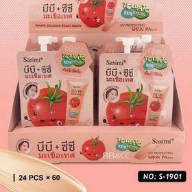 Tuýp kem lót, phấn lót túi cà chua đào Thái Lan (24 gói) giá sỉ