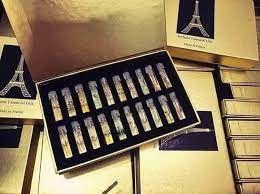 Set nước hoa 20 chai hình tháp vàng giá sỉ
