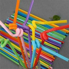 túi/ gói 60 ống hút nhiều màu xoắn nghệ thuật giá sỉ
