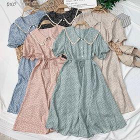 Đầm sơmi cổ viền ren D107 giá sỉ