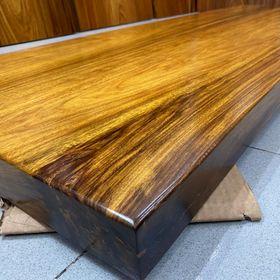 Băng ghế, kệ tivi, quầy bar gỗ tự nhiên nguyên tấm dài 2,2m x 35 x 5 giá sỉ