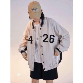 Áo khoác dù kiểu bomber logo cá tính giá sỉ
