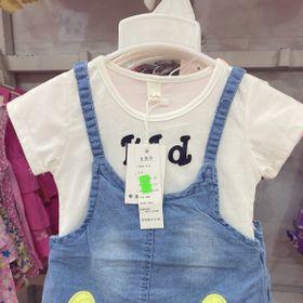 Váy yếm jean cho bé gái