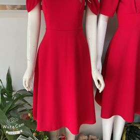 Váy hở vai xòe chất đẹp giá sỉ