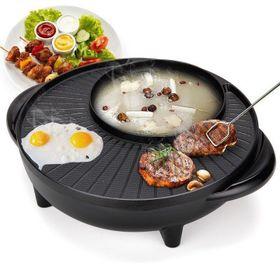 Bếp Lẩu Nướng Đa Năng Hình Tròn 36cm Ounika, Chảo Đa Năng, thiết kế đặc biệt được tráng lớp chống dính siêu bền Chảo Lẩu giá sỉ
