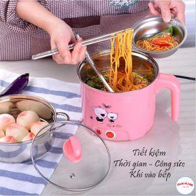 ca nấu mì kiêm nồi lẩu mini có tặng kèm xửng hấp - ca nấu mì với thiết kế sang trọng chuẩn giá sỉ
