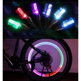 Bộ 2 đèn LED gắn van bánh xe đạp, xe máy, xe ô tô phát sáng khi chuyển bánh giá sỉ