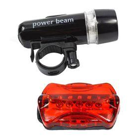 Đèn pin gắn xe đạp + Tặng kèm Đèn chiếu hậu 5 LED WJ-101 (Đen đỏ) giá sỉ