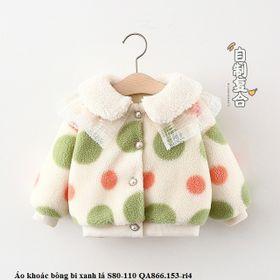 Áo khoác bông bi xanh lá S80-110 QA866.153-ri4 giá sỉ