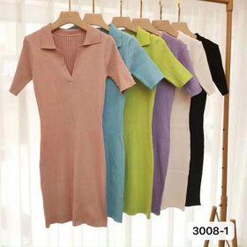 Đầm body len tăm D3008-1 giá sỉ