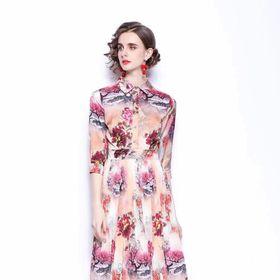 Đầm lụa sơmi D976267 - Kho sỉ giá sỉ