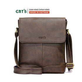 Túi đeo chéo CNT unisex IPAD21 nhiều màu cá tính NÂU giá sỉ