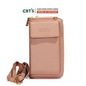 Túi đeo chéo đựng điện thoại thời trang CNT TĐX61 nhẹ nhàng nhiều màu HỒNG PHẤN giá sỉ
