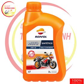Repsol Moto Sintetico 4T 10W40 1L - Dầu nhớt xe số mô tô tay côn giá sỉ