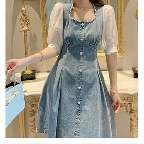 Đầm jean cườm cao cấp xinh trẻ giá sỉ