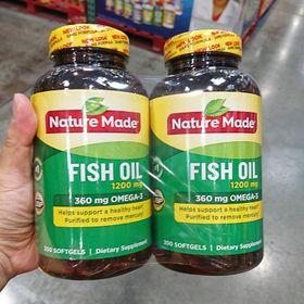 Viên dầu cá FISH OIL NATURE MADE Omega-3 - 200 viên (Mẫu Mới) giá sỉ