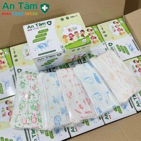 Khẩu Trang em bé An Tâm,thùng 50 hộp Mix sẵn đủ màu trong 1 hộp giá sỉ