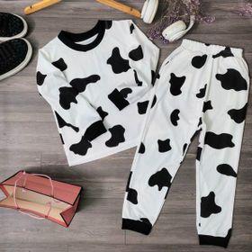 Set đồ bộ cho bé mặc nhà bò sữa đẹp giá sỉ giá sỉ