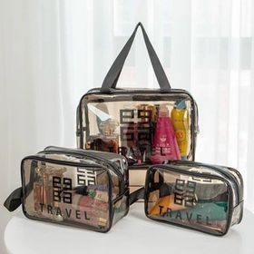 Set 3 túi trong suốt đựng đồ, mỹ phẩm du lịch thời trang T2 giá sỉ