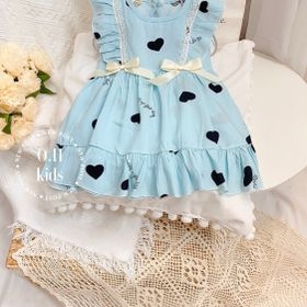Váy - váy trẻ em - váy lanh bèo giá sỉ