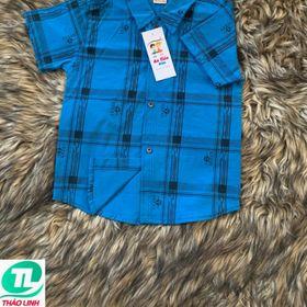 áo sơ mi sọc caro đen dành cho bé trai giá sỉ