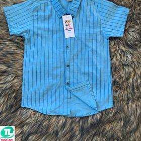 áo sơ mi sọc dọc dành cho bé giá sỉ